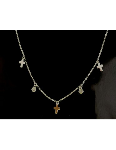 collar cruz con circonita...