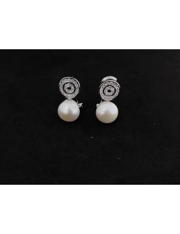 Pendientes perla natural...