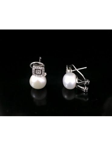 Pendiente perlas cultivadas...