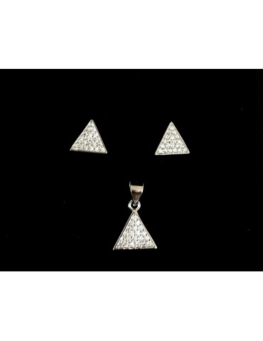 conjunto triangulo plata...